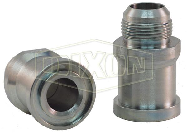 Straight Flange x Male JIC Hydraulic Adapter