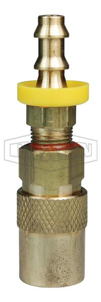 DQC CM-Series Industrial Mold Interchange Unvalved Coupler Push-Loc Barb