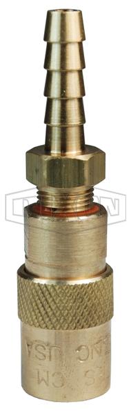 DQC CM-Series Industrial Mold Interchange Unvalved Coupler Hose Barb