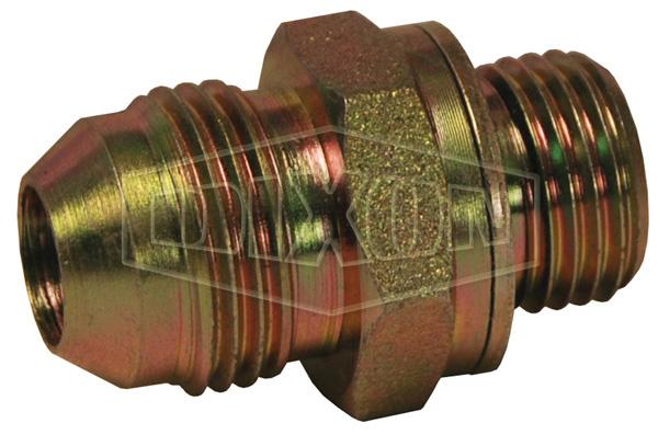 Male JIC 37° Flare x Male Metric Parallel Thread