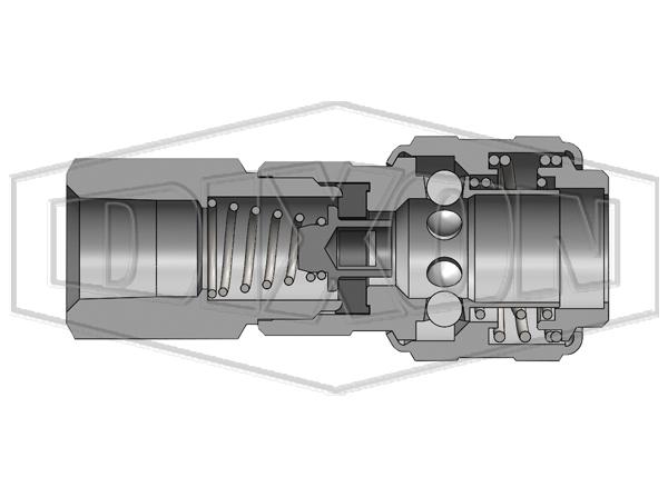 DF-Series Stainless Steel Coupler Dixon Valve 3FS3-S Pack of 4 pcs