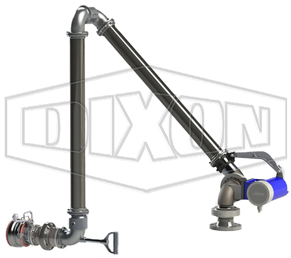 "4"" Bottom Loading Arm - Right Hand with Breakaway & API"