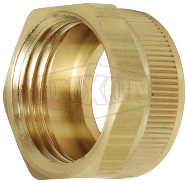Lead-free Garden Hose Hex Nut with Knurl