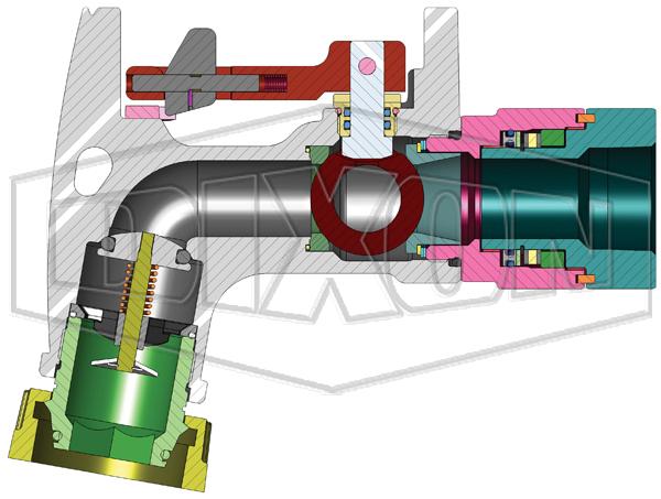 ball valve nozzle cad cutaway