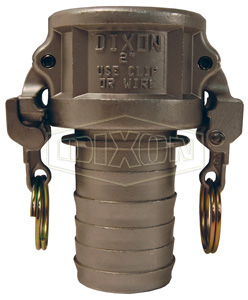 EZ Boss-Lock™ Cam & Groove Type C Coupler x Hose Shank with Notched Shank
