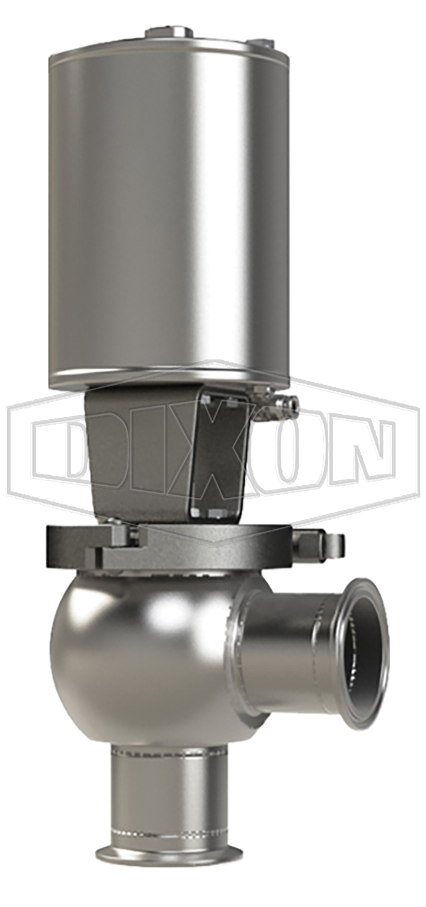 SSV Series Single Seat Valve, Shut-Off L Body, Clamp, Double Acting Actuator (Air-To-Air)
