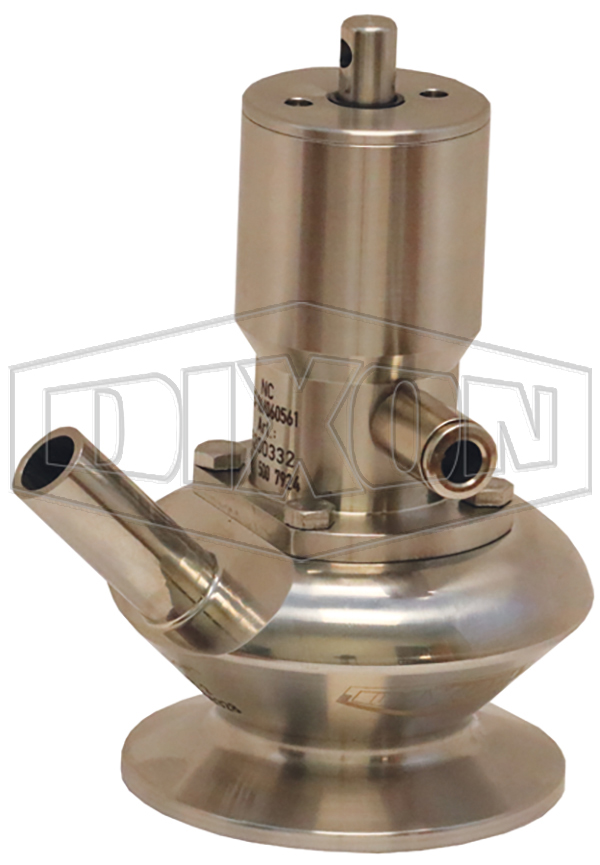 BSV Series Dixon/Rieger 3A Sample Valve, Single Port with Pneumatic Actuator without Lever